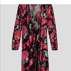 Zara sequin Kimono